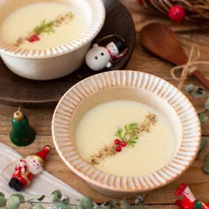 じゃがいものポタージュ。クリスマスパーティーに♪なめらかな野菜スープ。【農家のレシピ帳】