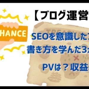 【ブログ運営報告】SEOを意識したブログの書き方を学んだ3ヵ月目!PVは?収益は?