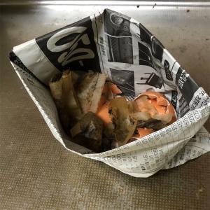 【脱プラ生活】生ゴミを新聞紙で捨てる