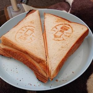 キャンプの朝ごはんはホットサンドを食べよう