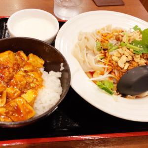 新宿西口の香味餃子にて看板メニューの餃子をはじめ刀削麺と麻婆豆腐丼をいただく 食べ放題も提供する同店にて満足度の高い本格四川料理を味わった