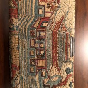 日本 楼閣刺繍の懐紙入れ(江戸時代)