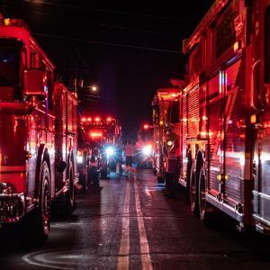 ホテルの隣が火事!火災報知機が鳴って避難した話