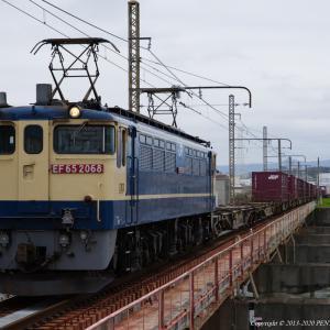 2020.3.28 5087レ EF65 2068 神崎川、75レ EF65 2067 HM付
