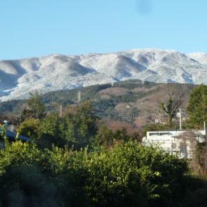 箱根の外輪山の山並みも真っ白に雪化粧!