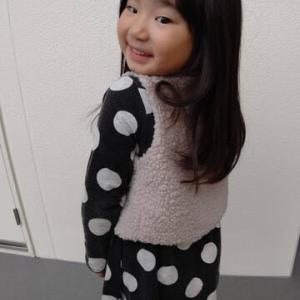 仙台からの孫娘便り・・その15/長い髪をショートカットにしました!