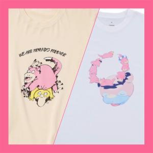 ◇ヤドン|Tシャツ2種類「ユニクロ」「ポケセン」