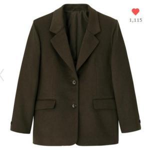 GU WOMEN ウールブレンドオーバーサイズジャケット+X
