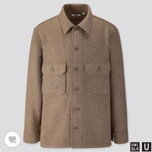 ユニクロ MEN フリースシャツジャケット(長袖)