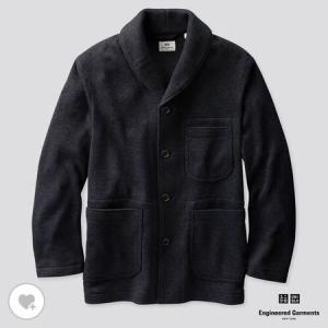 ユニクロ MEN フリースショールカラージャケット(長袖)