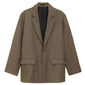 GU MEN オーバーサイズジャケット(グレンチェック)(セットアップ可能)