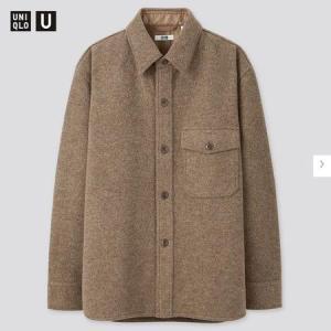 ユニクロU MEN フリースシャツジャケット(長袖)