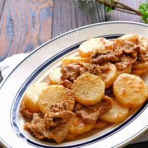 豚こまと長芋のスタミナ照りマヨ炒め