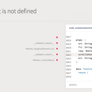 create nuxt-appデフォルトのElement UIでHTMLElement is not defined