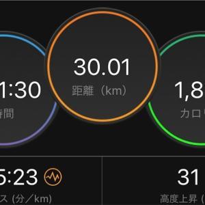 30km走でベスト