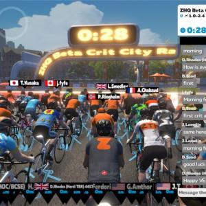 zwiftレース(ZHQ Beta Crit City Race)