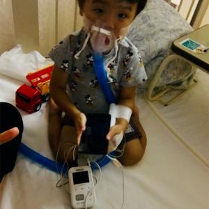 突然の喘息発作で緊急入院
