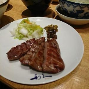 牛たん炭焼 利久 札幌パセオ店で 牛タンを