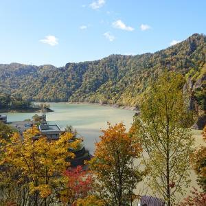 紅葉真っ盛り!豊平峡ダム