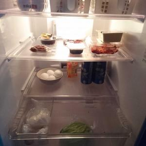 2日間買い物に行かなかった冷蔵庫