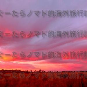 深紅の夕焼けは時間が止まっているような気分だった件