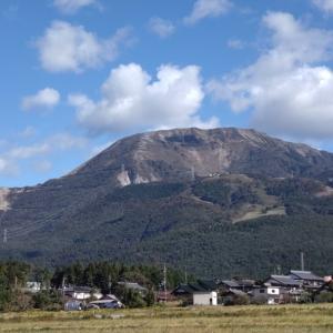 伊吹山を眺めながら歩いて来ました
