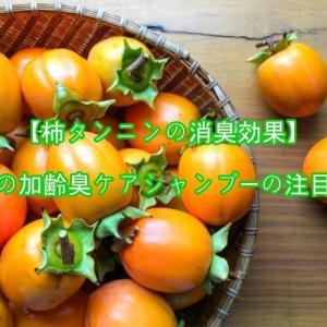 【柿タンニンの消臭効果】頭皮の加齢臭ケアシャンプーの注目成分