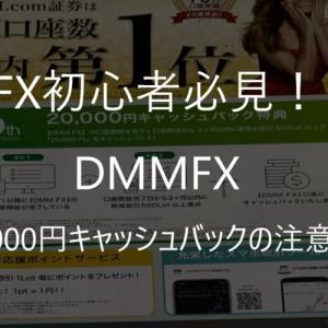 DMMFXの20,000円キャッシュバッグの罠!手取り金額は約4,000円でした