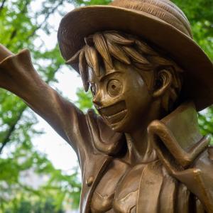 熊本観光とケロロ軍曹とワンピース・ルフィ銅像