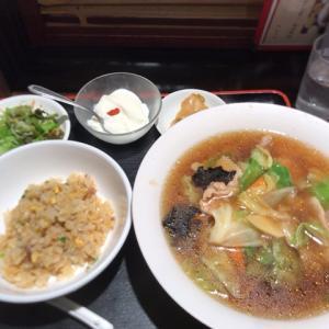神谷町の珉珉ミンミンで肉そば半炒飯を食べてきた感想と混雑状況