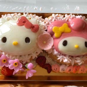 可愛さに悶絶!!サンリオと堂島ロールのコラボ「ひなまつりケーキ」