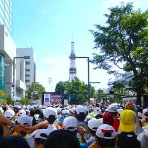 都市型マラソンの中ではむしろ変化に富む北海道マラソンのコース。