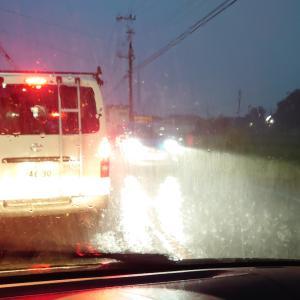 すんごい雨!