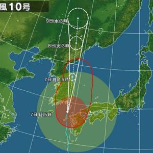 台風影響。