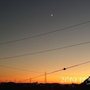 【今日の空】きれいな夕刻に心落ち着かせて*