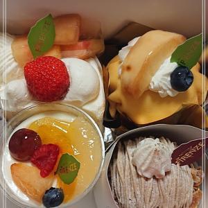 【お誕生日ケーキ】夫の誕生日祝いに店長さんが買ってくれた*