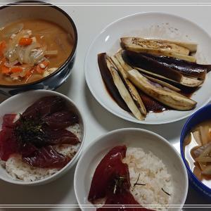 【おうちごはん】ヨシケイでかつおの漬け丼*