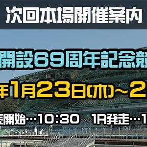 G3 いわき金杯争奪戦買い目情報【いわき平競輪予想1/23】