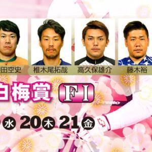 F1 京白梅賞買い目情報【向日町競輪予想2/19】