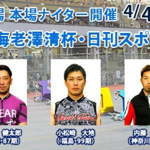 F1 海老澤清杯・日刊スポーツ杯買い目情報【川崎競輪予想4/6】