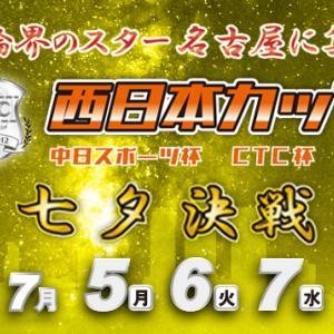 F1 西日本C 中スポ杯・CTC杯買い目情報【名古屋競輪予想7/7】