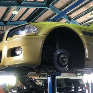 BMW M3のデフマウントブッシュ交換