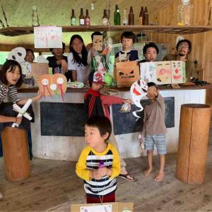 サイハテ村3日目 ハロウィン制作 インカム学校