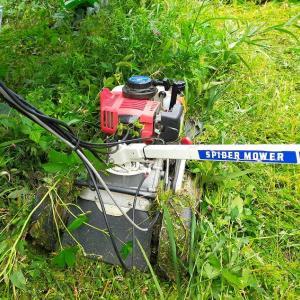 スパイダーモアで草刈中にアクセルが戻らず、少し怖い思いをしました