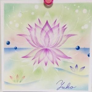 結晶の花マイスター講座「彩花」を描く