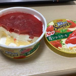 明治 エッセルスーパーカップ!! 苺ショートケーキ!!