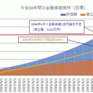 【長期投資目標】金融資産1億円のシミュレーション