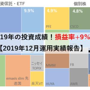2019年の投資成績!損益率+9%超【2019年12月末 運用実績】