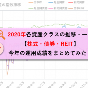 2020年各資産クラスの推移・一覧【株式・債券・REIT】