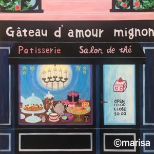 「パリのケーキ屋さん」イラスト
